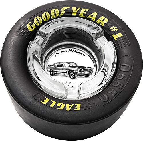 Dale Adkins Art Classic Car Tire Ashtray (1969 Mustang Boss 302-01)