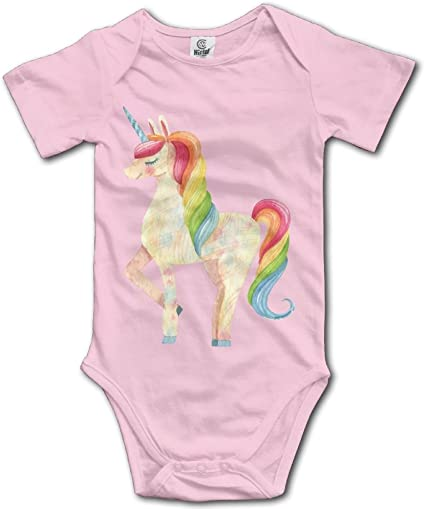 Baby Climbing Clothes Romper Hip Hop Unicorn Rainbow Infant Playsuit Bodysuit Creeper Onesies Pink