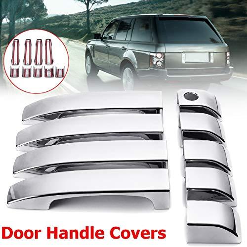 Cacys-Store - 8pcs ABS Gloss Matt Chromed Black Door Handle Covers Trim For Land Rover Range L322 2002 2003 2004 2005 2006 2007 2008 2009-2012