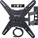 VideoSecu Tilt Swivel Full Motion Articulating TV Wall Mount for most Samsung 26' 28' 32' 39' 40' 43' 46' 48' 50' 55' 4K Smart LED TV UHD SUHD 2015 2016 Model Swivel Tilt Bracket ML531BE CH5