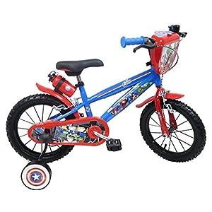 "Vélo 14"" garçon licence Avengers - 2 freins avec porte-bidon + bidon arrière 10"