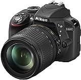 Nikon D3300 SLR-Digitalkamera (24 Megapixel, 7,6 cm (3 Zoll) TFT-LCD-Display, Live View, Full-HD) Kit inkl. AF-S DX 18-105mm VR-Objektiv schwarz