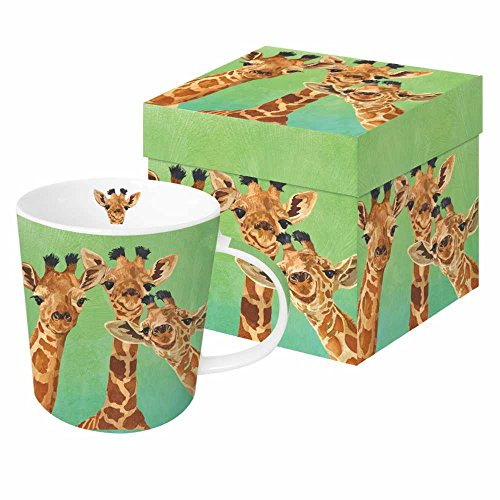 Africa Mug - Paperproducts Design PPD 603310 Giraffe Amigos Mug in Gift Box, 13.5oz, Multicolor