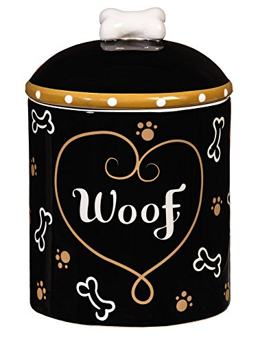 Love and Milk Bones Ceramic Dog Treat - Jar Ceramic Treat