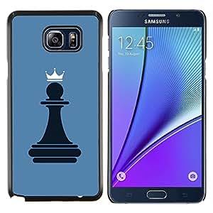 TECHCASE---Cubierta de la caja de protección para la piel dura ** Samsung Galaxy Note 5 ** --Reina del ajedrez Peón