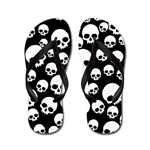 CafePress Random Skull Pattern - Flip Flops, Funny Thong Sandals, Beach Sandals