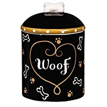 Love And Milk Bones Ceramic Dog Treat Jar