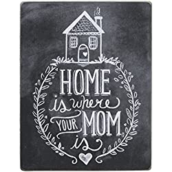 Primitives By Kathy Chalk Box Sign, Home Is Where Your Mom Is, 7 By 9 Inch