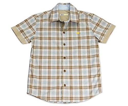 Dakomoda Toddler Boys' Short Sleeve Easter Shirt Brown Plaid Check 100% Pima Cotton Dress Shirt 3T by Dakomoda (Image #4)'