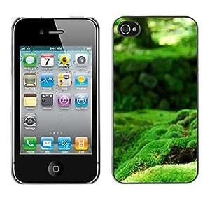 """For Apple iPhone 4 / 4S , S-type Naturaleza verde musgo"""" - Arte & diseño plástico duro Fundas Cover Cubre Hard Case Cover"""