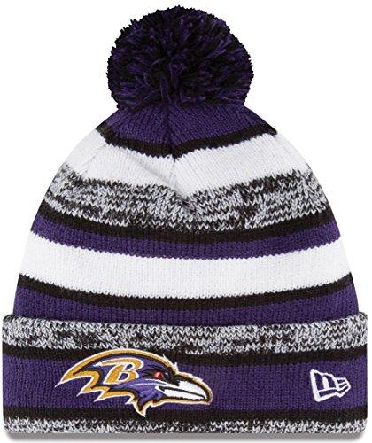- Unisex Beanie One Size Knit Hat Baltimore Ravens Purple Black NFL Football