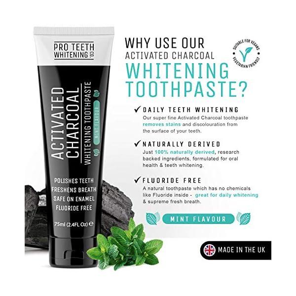 Pasta de dientes blanqueadora de carbón activado - Sabor a menta 100% derivado de forma natural - Refresca el aliento… 8