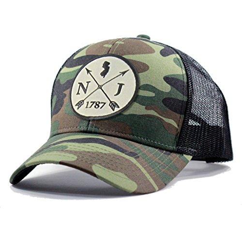 Homeland Tees Men's New Jersey Arrow Patch Army Camo Trucker Hat - Army (New Jersey Trucker Hat)