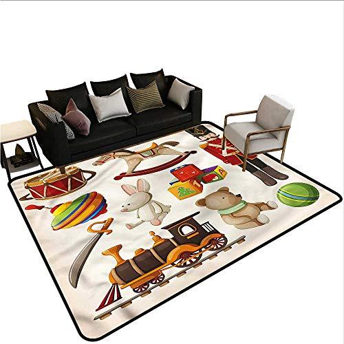 Kids,Non-Slip Modern Carpet 48