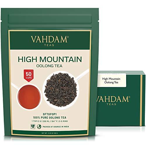 Hojas de te Oolong de alta montana de Himalaya (50 tazas), 100gr, TE OOLONG PARA PERDIDA DE PESO, 100% de te de desintoxicacion natural, te oolong adelgazante | Te de hojas sueltas