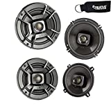 Polk Audio - A Pair of DB652 6.5' Coaxial and A Pair of DB522 5.25' Speakers - Bundle Includes 2 Pair