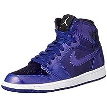 Nike Jordan Men's Air Jordan 1 Retro High Deep Royal/Black/White Basketball Shoe 10 Men US