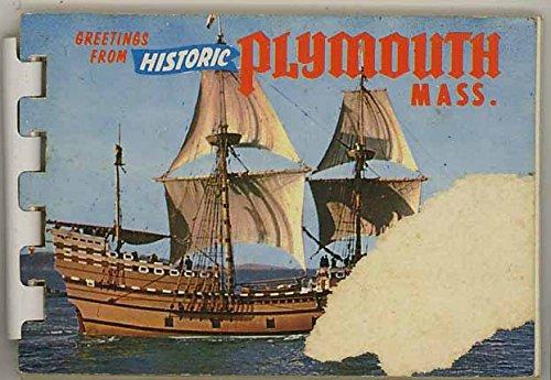 Plymouth Massachusetts - Miniature Souvenir Photo Album - Plastic Comb Binding - 1960