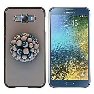 KLONGSHOP // Cubierta de piel con cierre a presión Shell trasero duro de goma Protección Caso - Eye Ball - Samsung Galaxy E7 E700 //
