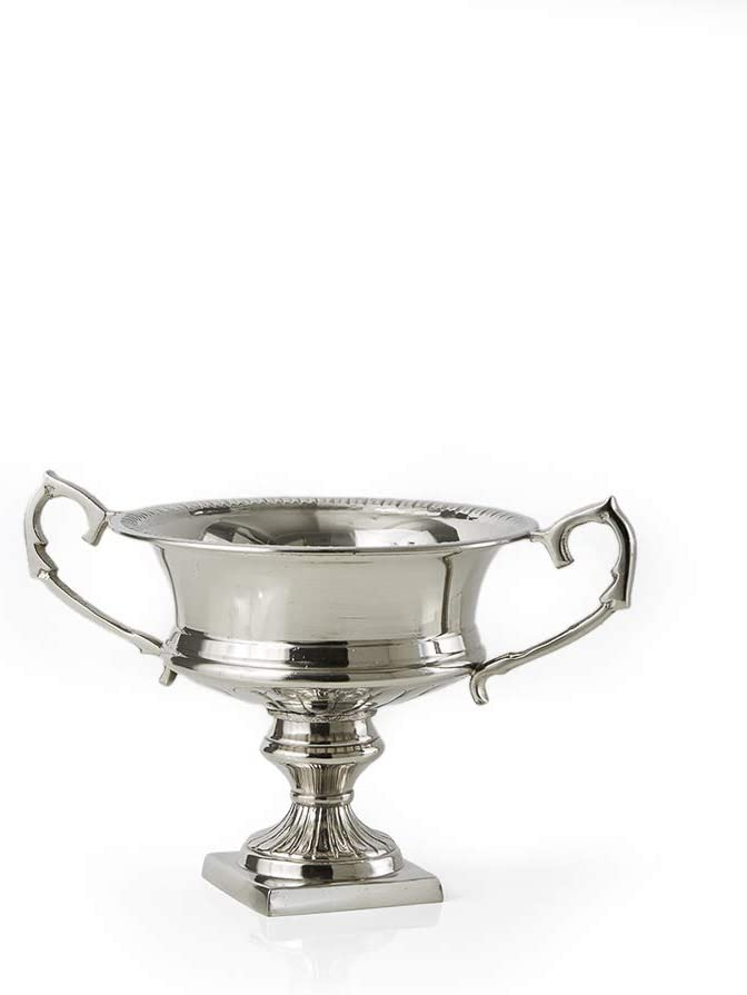 Serene Spaces Living Silver-Plated Trophy Flower Urn, Use for Home Decor, Event Centerpieces, Wedding, Parties, Floral Arrangements, Small 8