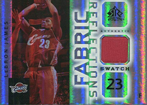 Fabric Lebron James (LeBron James 2005 Upper Deck Fabric Reflections Game Used Jersey Card)