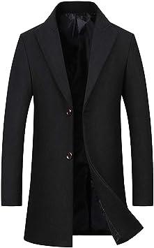 メンズ秋冬ウールトレンチコート、ウールビジネスカジュアルジャケットプラスサイズ