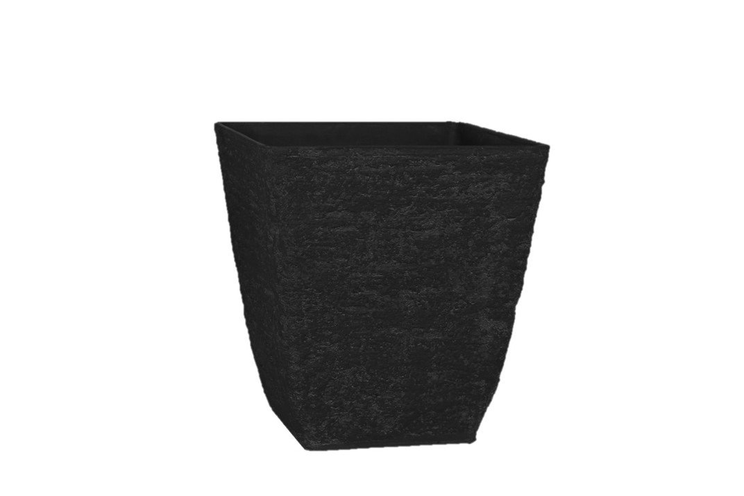 Stone Light Antique AK Series Cast Stone Planter (Pack of 2), 16 by 16.5'', Black by Stone Light
