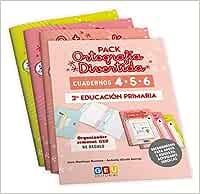 Pack Ortografía Divertida 2º Primaria: Cuadernos 4, 5 y 6 | Material De Refuerzo Actividades sencillas | Editorial Geu Niños de 7 a 8 años: Amazon.es: José Martínez Romero: Libros