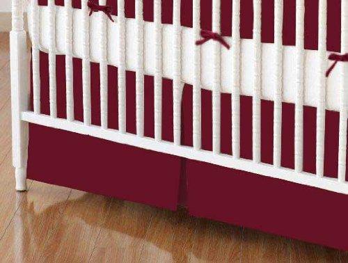 (SheetWorld Crib Skirt (28 x 52) - Burgundy Jersey Knit - Made In USA)