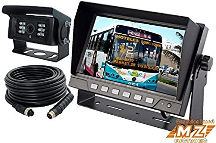 "REAR VIEW BACKUP CAMERA CAB OBSERVATION SYSTEM 7/"" WIRED MONITOR+2 COLOR CAMERAS"