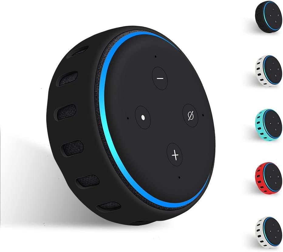 Everyday Silicone Shockproof Speaker Cover Holder Stand for Echo Dot 2nd Generation Orange