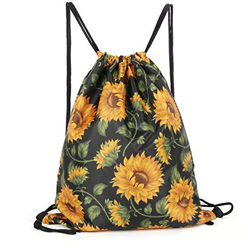 Sunflowers Drawstring Backpack Bag Men & Women Sport Gym Sack Cinch Bag with Zipper Pockets(Sunflowers)]()