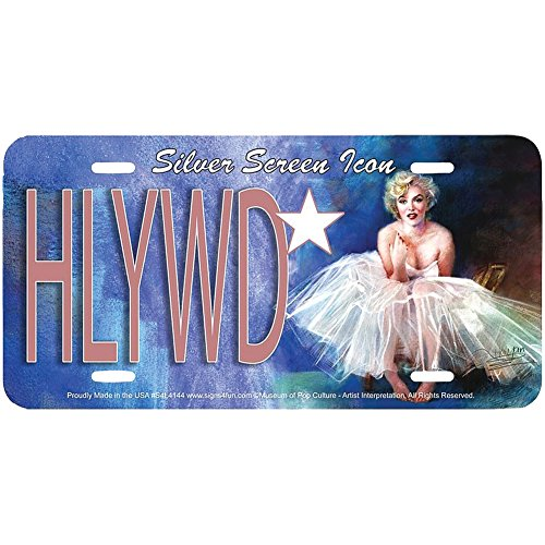 Signs 4 Fun Marilyn Monroe Silver Screen Icon Hollywood Embossed Vanity License Plate -