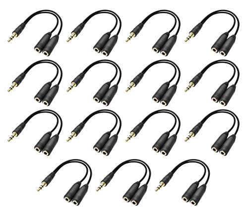 3.5mm Stereo Jack Splitter Cable Adapter For Mp3 Player, Mo
