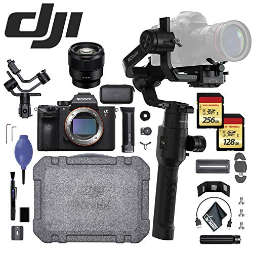 DJI Ronin-S w/Sony Alpha a7R + Sony FE 85mm f/1.8 Lens - 256GB + 128GB SD Memory Card - Card Reader and More