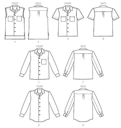 Amazon com: McCall Pattern Company M6932 Misses/Mens Shirts, Size XN