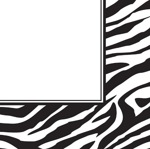 [Creative Converting Animal Print Zebra Luncheon Napkins, 16 Count] (Kids Natural Leopard Costumes)