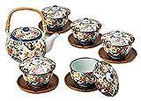 Saikai Pottery Japanese Teapot Kyusu And 5 Japanese Tea cup Yunomi set 30393 from Japan