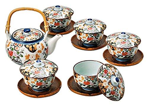 Saikai Pottery Japanese Teapot Kyusu And 5 Japanese Tea cup Yunomi set 30393 from Japan by Saikai Pottery