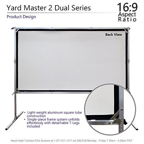 Elite Screens Yardmaster 2 DUAL, Projection, 4K/8K HD, Active Indoor/Outdoor Screen,
