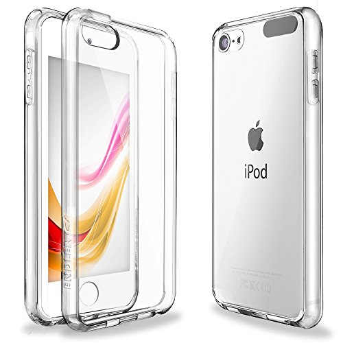 iPod Touch 6 Case,iPod Touch 5 Case,ENDLER [Fusion][CLEAR SLIM] Hybrid Premium TPU Bumper Scratch Resistant Hard Clear Back Panel Shock Absorption Case for Apple iPod Touch 5th 6th Gen (Crystal Clear)