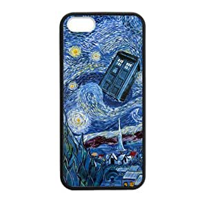 CASECOCO(TM) Doctor Who Tardis Police Box Plastic TPU Case Cover Skin For iphone 5 5S
