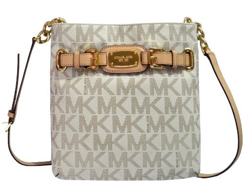 Michael Kors Hamilton Large PVC Crossbody in Vanilla