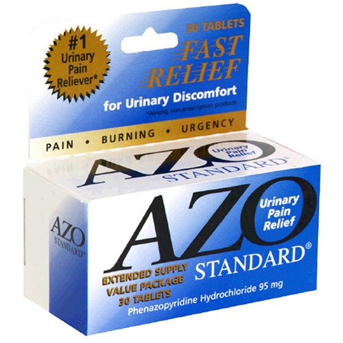 AZO Standard Urinary Pain Relief Tablets, 30-Count Boxes (Pack of 3)
