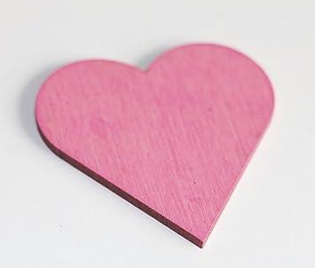 50 Stk Holzherzen 5cm Rosa Altrosa Tischkarten Herzen Holz Tischdeko