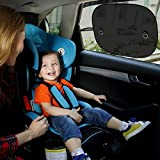 Car Sun Shade (3 pack),Mblai Car Window Shade For Car Side and Rear Windows, Maximum UV Protector for Baby Child