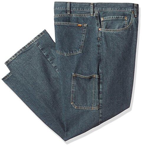Timberland PRO Men's Plus Size Grit-n-Grind Denim Work Pant, Dark, 44W x 32L