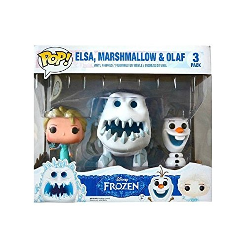 Funko Disney Frozen POP! Movies Elsa, Marshmallow & Olaf Vinyl Figures #82