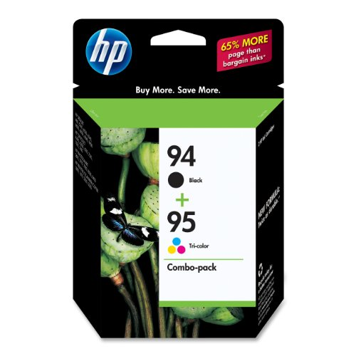 HP 94 Black & 95 Tri-color Original Ink Cartridges, 2 pac...