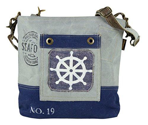de Sunsa señora Bolso 51733 bolso hecho tela de Bolso de de tela Vintage mano cuero con hombro compra qxwxYt1ES